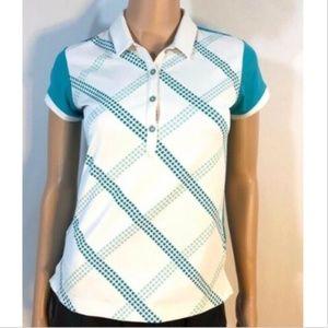 Adidas Women's Athletic White Top Shirt Golf XS